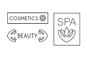 Cosmetic, beauty, spa logo design
