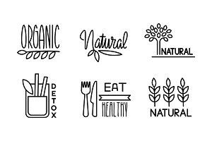 Natural, detox, organic linear logo