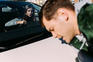 shocked woman in car mowed down youn