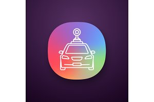 Smart car in front view app icon