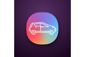 Car side view app icon