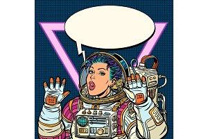 Woman astronaut Girls 80s