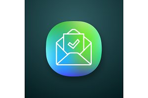 Email confirmation app icon