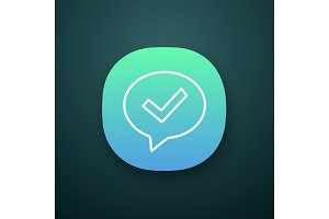 Approved chat app icon