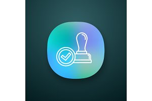 Stamp approved app icon