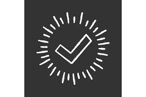 Checkmark chalk icon