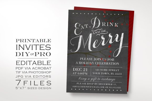 60 printable greeting cards invites gift tags for all your