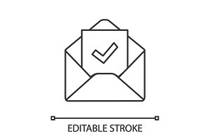 Email confirmation linear icon