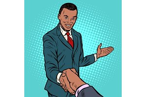 African businessman shaking hands