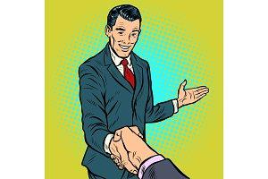 businessman handshake, partnership