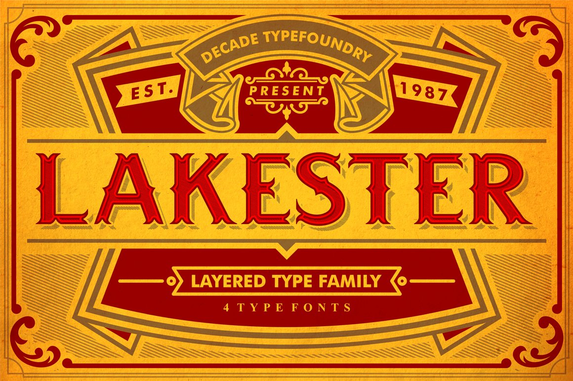 50 OFF LAKESTER FONT FAMILY