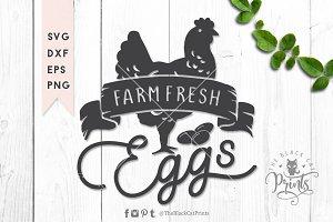 Farm fresh eggs SVG DXF PNG EPS