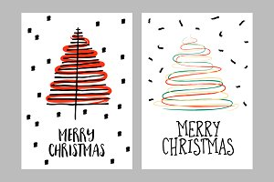 Simple Merry Christmas Greeting Card