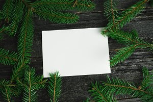 An empty sheet of paper on a wooden