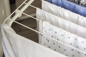 Laundry drying on the clotheshorse