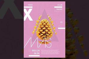 Abstract Xmas & Autmun Poster
