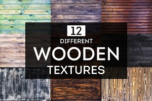 12 different wooden textures