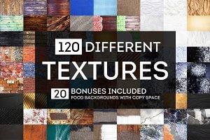 120 DIFFERENT TEXTURES