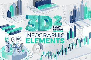 3D Corporate Infographic Elements 2