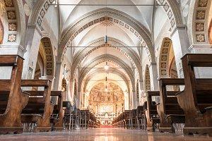 Inside a church in italy