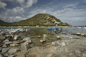 The landscape of Punta Molentis