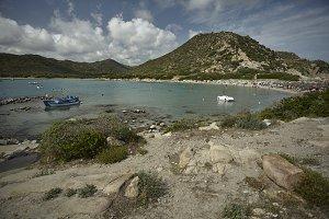The whole Punta Molentis beach