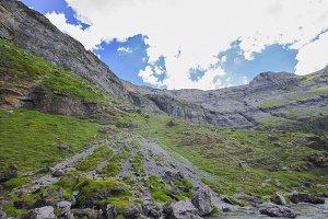 Mountain landscape in Ordesa Nationa