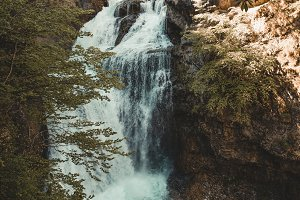 Wonderful waterfall in the middle of