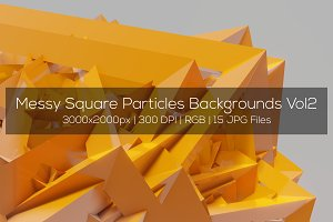 Messy Square Particles Backgrounds