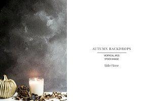 Autumn Backdrops ~ Pumkin & Candle