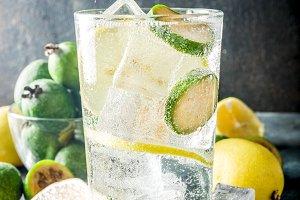 Iced feijoa lemonade