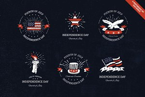 Independence day logo badges