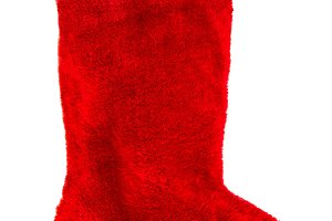 Red christmas stocking decoration