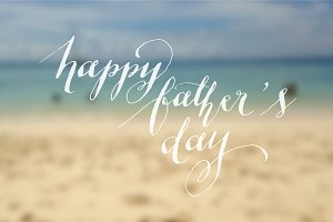 father's day calligraphy vector