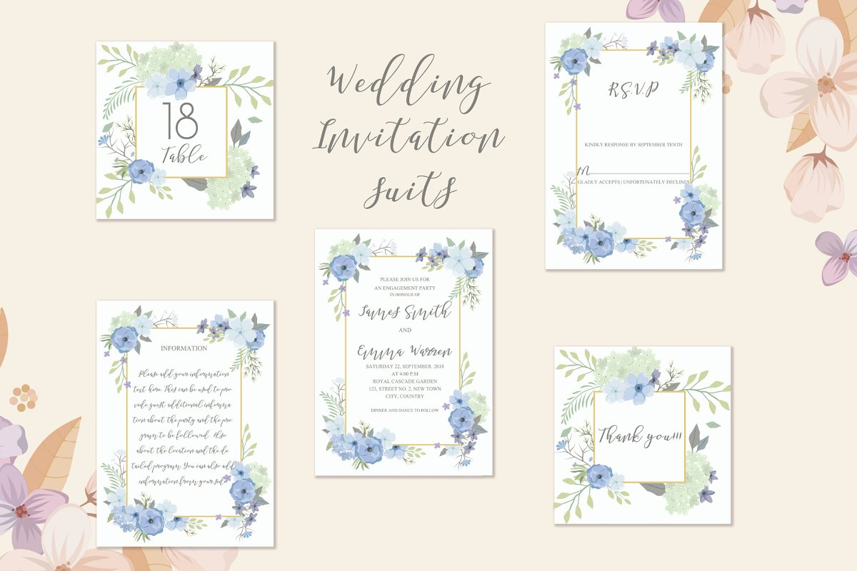 Beach Theme Wedding Invitation Wedding Templates Creative Market