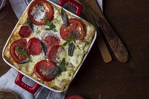 Homemade lasagne bolognese
