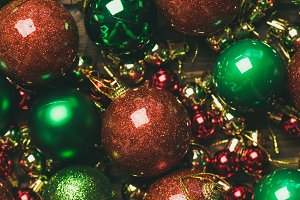 Colorful christmas tree decoration