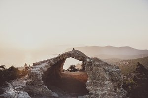 Ancient stones of Monolithos castle