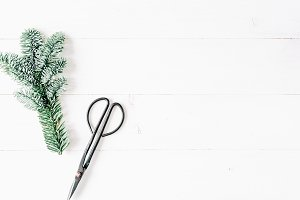 Christmas minimal composition