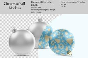 Christmas ball mockup. PSD mockup.