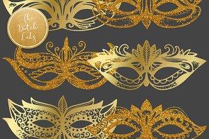 Carnival & Mardi Gras Masks Clipart