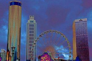America, cheerful colorful Atlanta.