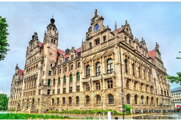 New Town Hall In Leipzig Germany High Quality Architecture Stock Photos Creative Market