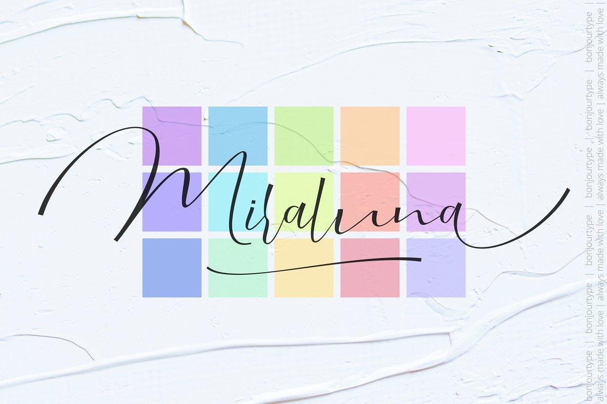 Miraluna | Stylized ~ Script Fonts ~ Creative Market