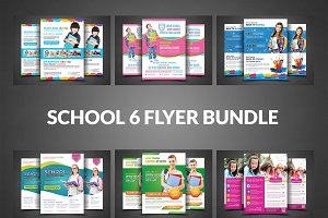 School Admission Flyer Bundle