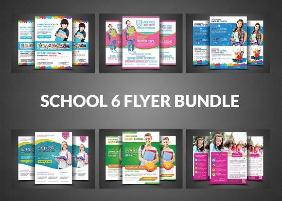 School Admission Flyer Bundle