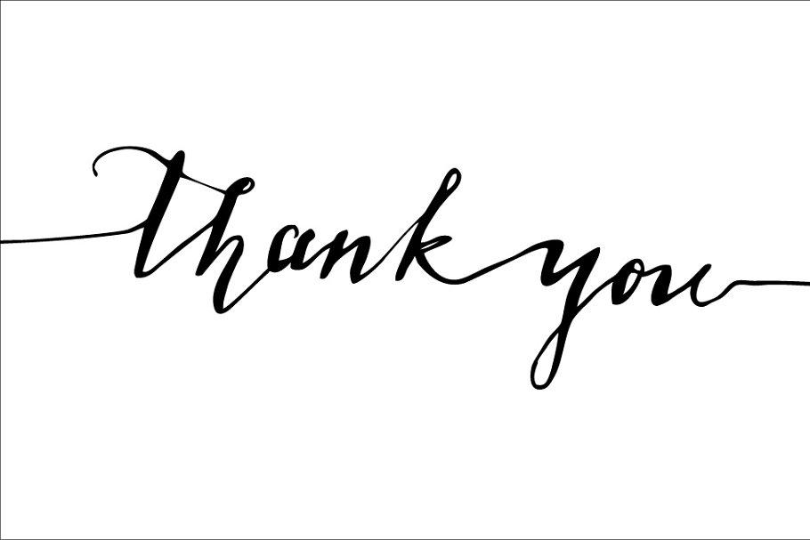 Thank you calligraphy. Vector