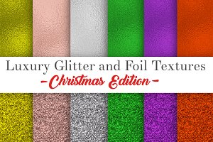 Glitter and foil textures,christmas