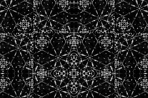 Dark Fractal Ornate Geometric Seamle