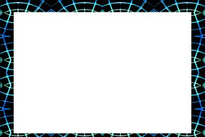 Blank Landscape Frame With Neon Line